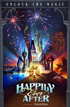 New merchandise celebrating Happily Ever After has arrived at the parks! Disney World Attraction Poster Above, see the beautiful new poster for the fireworks spectacular at Disney's Magic Kingdom. The post was created by Brett Owens, Senior Graphic Designer with Disney Parks Live Entertainment. See the poster at the entrance of Main St USA under …