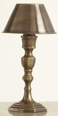 Antique Brass Mini Lamp with Brass Shade