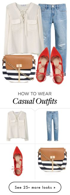 """""""Sunday Casual"""" by reishelalynna on Polyvore featuring White House Black Market, MANGO, Loeffler Randall and Call it SPRING"""