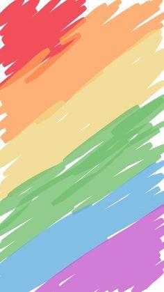 Rainbow Wallpaper, Kawaii Wallpaper, Tumblr Wallpaper, Colorful Wallpaper, Screen Wallpaper, Wallpaper S, Wallpaper Backgrounds, Cute Backgrounds, Cute Wallpapers