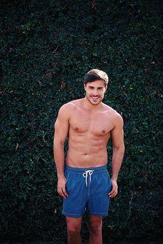 Blue men's swim trunk #swimtrunk #mensfashion #swimwear