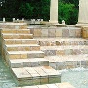 for a water feature and steps. These produce a great finish to the area Cobblestone Pavers, Sandstone Pavers, Bluestone Pavers, Travertine Pavers, Granite Tile, Pool Paving, Natural Stone Pavers, Tile Showroom, Stone Cladding