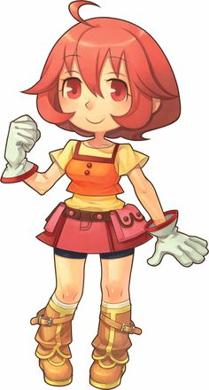 Harvest Moon: Animal Parade. One of the playable female characters