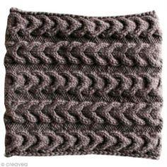 Tuto : Tricoter un snood à torsades inversées Loom Knitting, Knitting Patterns, Merino Wool Blanket, Knit Crochet, Stitch, Sewing, Tour, Augmentation, Amazon Fr