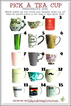Personality Quiz – Pick A Tea Cup and Find Out More About Your Personality Personality Test Quiz, True Colors Personality, Psychology Quiz, Fun Test, Intresting Facts, Fun Quizzes, Brain Teasers, How To Find Out, Tea Cups