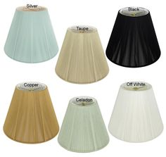 "Empire Silk String Lamp Shades 6 Colors 8-20""W"