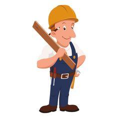profesión carpintero de dibujos animados png