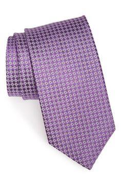 J.Z. Richards Geometric Grid Silk Tie