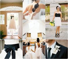 LOVE the black lace on the back of the dress!! Black and White Wedding Theme Decoration Ideas 2014!