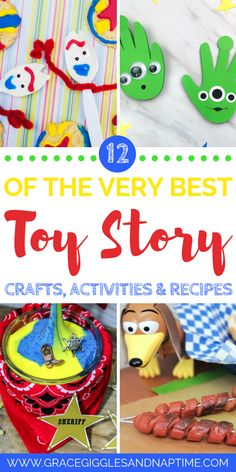 12 Toy Story Crafts, Activities & Recipes - Grace, Giggles and Naptime - Toys for years old happy toys Toy Story Game, Toy Story Alien, Toy Story Party, Disney Activities, Craft Activities, Toddler Activities, Family Activities, Toy Story Birthday, Birthday Party Themes