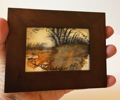 Rusted River...Tiny Novella, Original Watercolor/Asemic Writing/Landscape. by DLRigter on Etsy