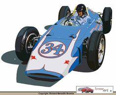 RACING CARS: MICKEY THOMPSON 1962 INDY CAR