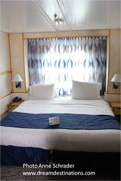 Ocean View Stateroom, Navigator of the Seas Navigator Of The Seas, Ocean, Bed, Wall, Furniture, Home Decor, Decoration Home, Stream Bed, Room Decor