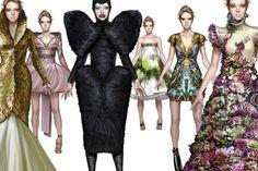 Fashion Illustration: Alexander Mcqueen Inspired Dissertation by Ignasi Monreal