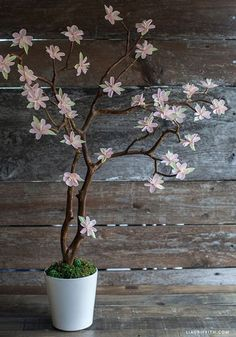 Crepe Paper Cherry Blossom Branches