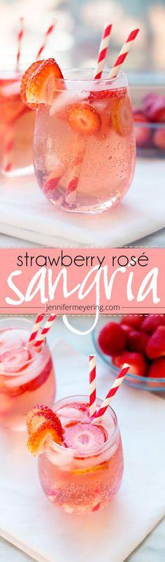 Strawberry Rosé Sangria |Strawberry Rosé Sangria |JenniferMeyering