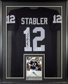 a642b20d5 Oakland Raiders Ken Stabler Autographed Jersey with Inset Photo