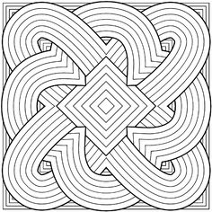 Free printable coloring pages for adults Geometric patterns
