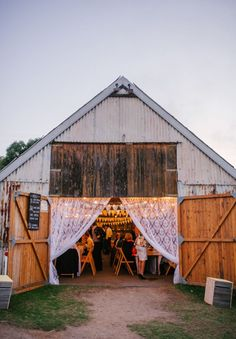 boho barn wedding reception