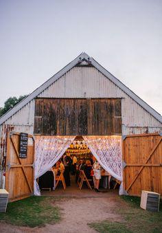 boho barn wedding reception