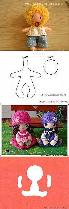Очень простые куколки.