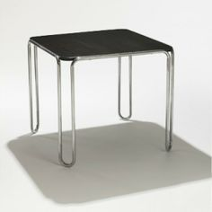 Marcel Breuer 					B 10 table   					 						ThonetGermany , c. 1927 lacquered wood, chrome-plated steel 29.75 w x 29.75 d x 26.25 h inches. 29.75 w x 29.75 d x 26.25 h inches Signed with manufacturer's metal disk label to side. s4.8