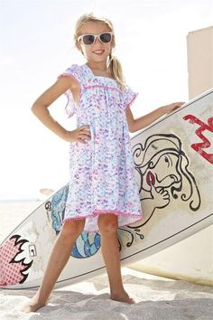 Every kid reveres tie-dye, especially in cotton candy shades for a glamorous girl.  #coverup #summerdress #peixoto