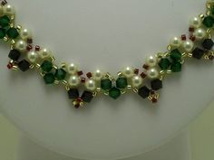 FREE Download for this Bead Necklace Pattern at Bead-Patterns.com and  Sova-Enterprises.com