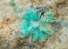 Apachite, Cu9Si10O29•11(H2O), Christmas Mine, Arizona, USA