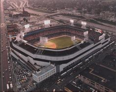 Aerial view of the former Tiger Stadium in Detroit, MI, Photo by m7k7k7, via Flickr