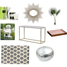 Coastal Foyer by cozzian on Polyvore featuring interior, interiors, interior design, home, home decor, interior decorating, Dash & Albert, Michael Aram, John-Richard and Mela Artisans