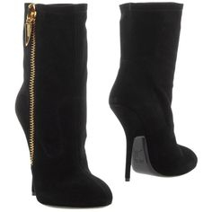 Giuseppe Zanotti Design Ankle Boots (2.580 RON) ❤ liked on Polyvore featuring shoes, boots, ankle booties, black, leather bootie, leather ankle booties, short boots, black bootie boots and black leather ankle booties