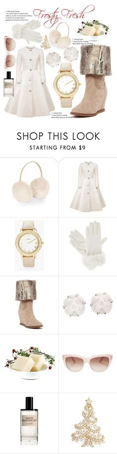 """""""Frosty Fresh"""" by jamielynn2323 ❤ liked on Polyvore featuring Accessorize, Esme Vie, Chico's, Isotoner, Johnston & Murphy, Chanel, Kate Spade, D.S. & DURGA and Nadri"""