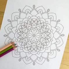Mandala Enlighten Hand Drawn Adult Coloring Page от MauindiArts