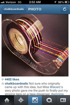 Great idea for thin nail strip tape