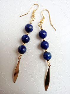 Earrings Adeline Lapis lazuli gemstones by Mercy's Fancy