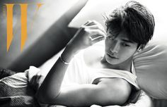 "Lee Jong Suk Lays Topless in Bed for ""W Korea"" 