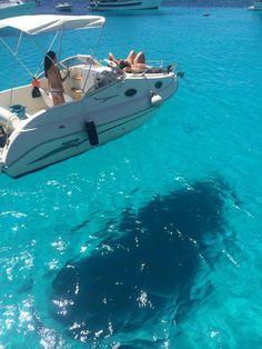 The sea of Lampedusa, Sicily