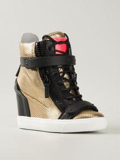 Giuseppe Zanotti Design High-Top-Sneakers mit Keilabsatz