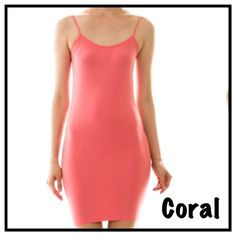 CAMI BODYCON SLIP IN CORAL Coming soon !! Boutique Intimates & Sleepwear Chemises & Slips