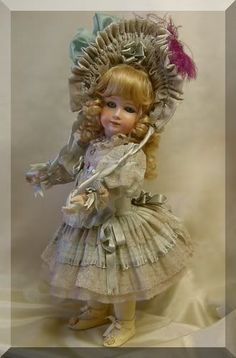 "Doll Dress for 20"" dusty blue"