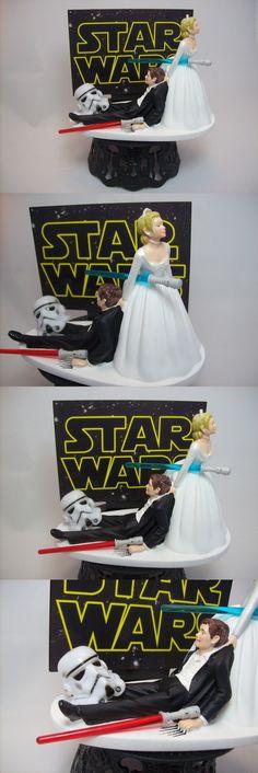 Jedi Couple Alone Star Wars Wedding Cake Topper