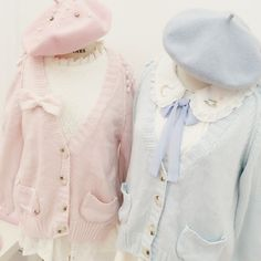 Material: made of cotton and polyester Colors: White/Pink/Blue Size reference: Size Length Bust One Size Harajuku Fashion, Japan Fashion, Kawaii Fashion, Lolita Fashion, Cute Fashion, Fashion Outfits, Visual Kei, Style Kawaii, Mode Lolita