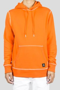 CONVERSE ESSENTIALS X VINCE STAPLES HOODIE ORANGE Vince Staples, French Terry, Chuck Taylors, Converse, Essentials, Orange, Hoodies, Model, Cotton