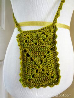 Fiber Flux...Adventures in Stitching: Free Crochet Pattern...Ruffle Travel Pouch