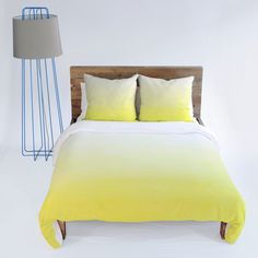 Social Proper Lemon Ombre Duvet Cover #ombre #yellow #bedding #bedroom