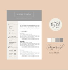 Coupon Word Template Resume Template With Cover Letter For Wordpappermint On Etsy .