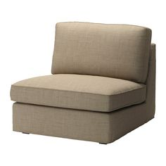 IKEA - KIVIK, Cover one-seat section, Isunda beige, , The cover is easy to keep clean as it is removable.