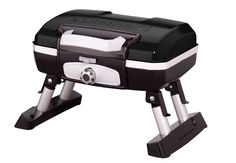 Make grilling a picnic with the Cuisinart Petit Gourmet Portable Tabletop Gas Grill . It's sturdy design means no more wobbly table top grilling. Propane Gas Grill, Grill Grates, Bbq Grill, Barbecue, Gas Bbq, Gas Grill Reviews, Best Charcoal Grill, Charcoal Bbq, Portable Grill