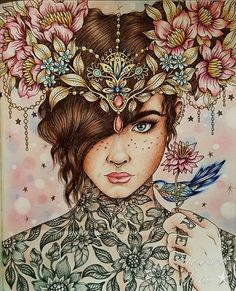 Summer Nights book by Hanna Karlzon #fabercastell #polychromos #adultcolouring #adultcoloringbook #colouring #hannakarlzonsommarnatt #hannakarlzon #tattoos #summernights